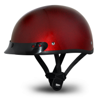 Daytona Skull Cap - Красный металлик с козырьком