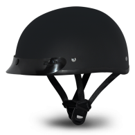 Daytona Skull Cap - Черный матовый с козырьком