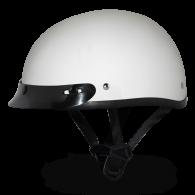 Daytona Skull Cap - Белый глянцевый с козырьком